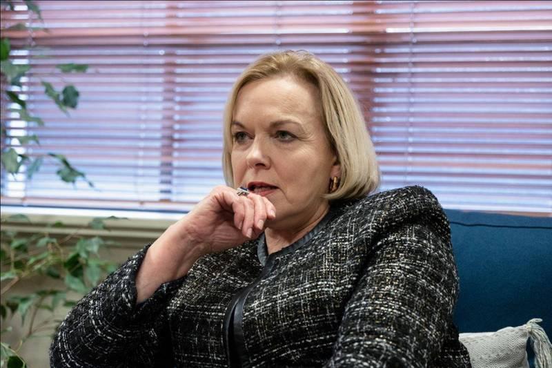 紐西蘭國家黨黨魁柯林斯曾大讚台灣是防疫有成的國家,今天又表示她不認為中國會介意,讓中國駐紐西蘭大使館爆氣。(彭博)