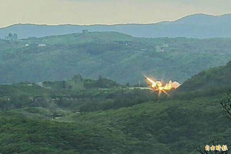 中科院「無限高」飛彈試射。(資料照,記者蔡宗憲攝)
