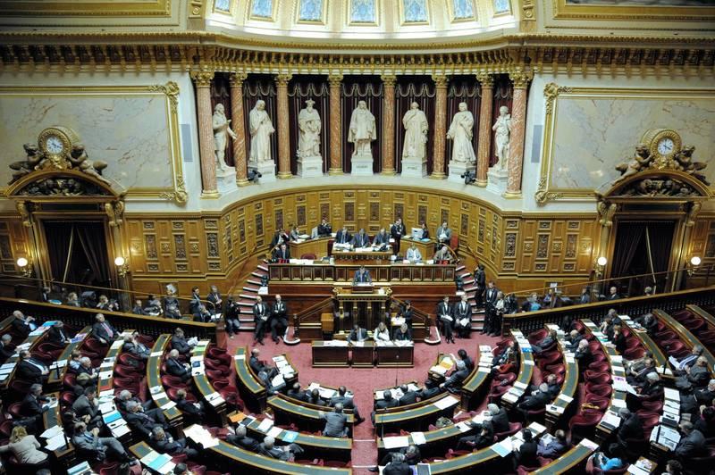 我國駐法國代表吳志中於受邀出席參議院調查委員會聽證會。圖為法國參議院。(法新社)