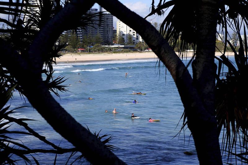 澳洲黃金海岸昨日傍晚發生62年來首起鯊魚襲人致死事件。圖為格林芒海灘。(美聯社資料照)