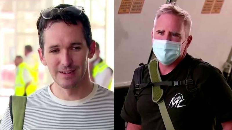 因擔憂中共威脅舉動離開中國的駐華記者博圖斯(左)和史密斯(右)。(路透)