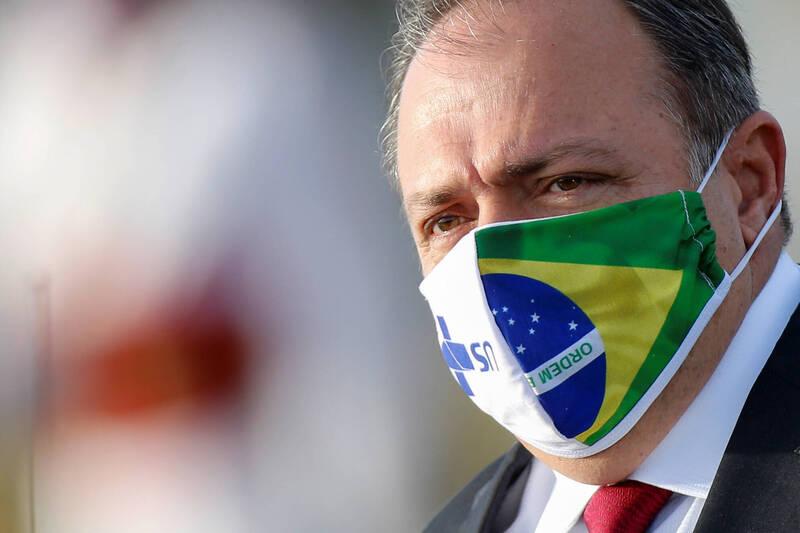 巴西代理衛生部長衛生部代理部長帕佐耶洛週二時表示,武漢肺炎疫苗將於2021年1月份到貨。(路透)