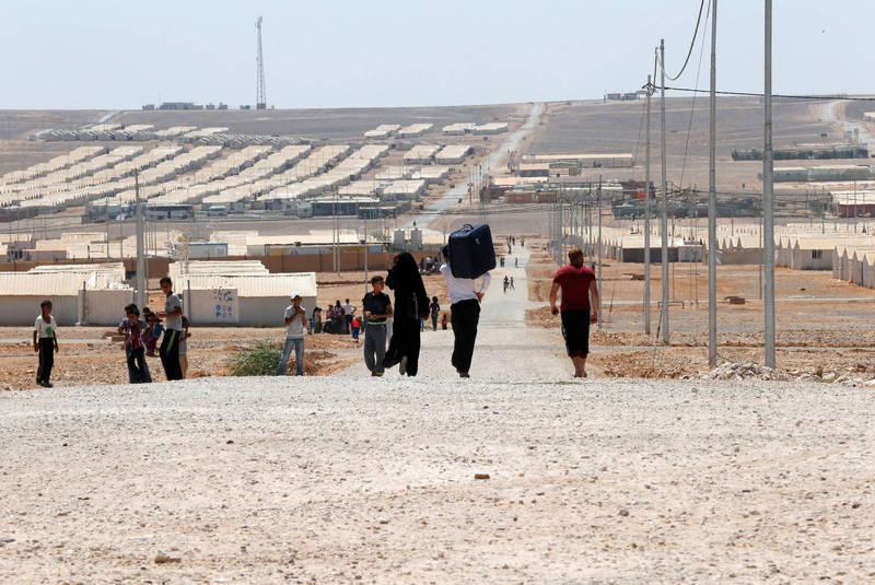 約旦難民營在近日篩檢出2人確診武漢肺炎,是疫情爆發以來首次出現難民營內部的感染,圖為約旦阿茲拉克(Azraq)難民營區。(路透)