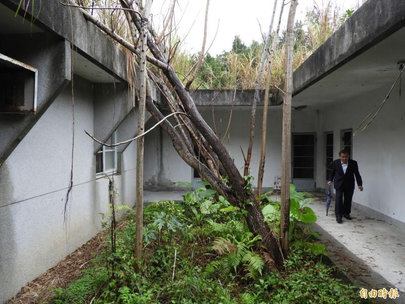 調查局安康接待室過去用來刑訊關押政治犯,目前雖已廢棄,建物仍保留完整,促轉會有意朝不義遺址保存。(記者陳鈺馥攝)