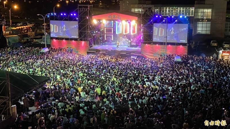 台南夏日音樂節「將軍吼」大受歡迎,加碼9月27日下午5點30分在將軍漁港舉辦「將軍火音樂節」。(記者楊金城攝)