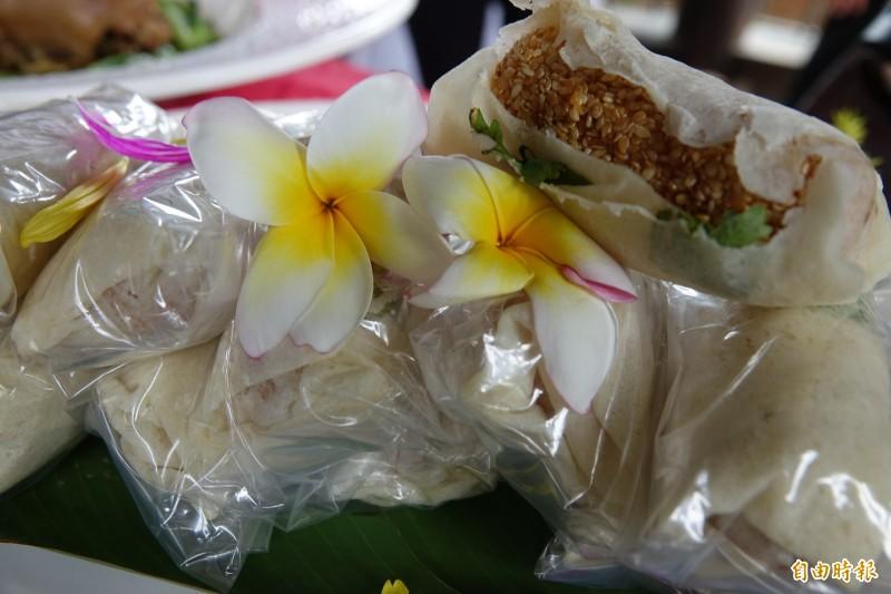 鹿港人懷念的老滋味「蔴荖潤餅」,也是隱藏版的道地鹿港味。(記者劉曉欣攝)