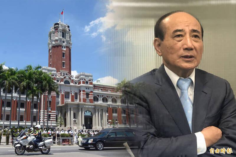 對於媒體報導王金平參加海峽論壇替綠營傳話一事,總統府方面表示純屬捏造,絕非事實。(本報合成)