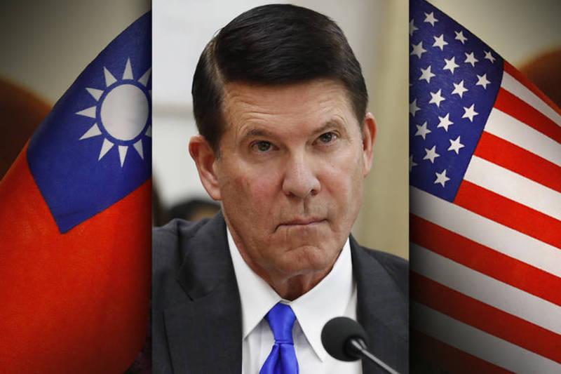 美國國務院次卿克拉奇(Keith Krach)傳17至19日訪問台灣,總統府今天表示,雙方還在就對話時間、形式、議題等相關規劃進行磋商,期盼台美經濟商業高階對話能夠順利展開。(本報合成)