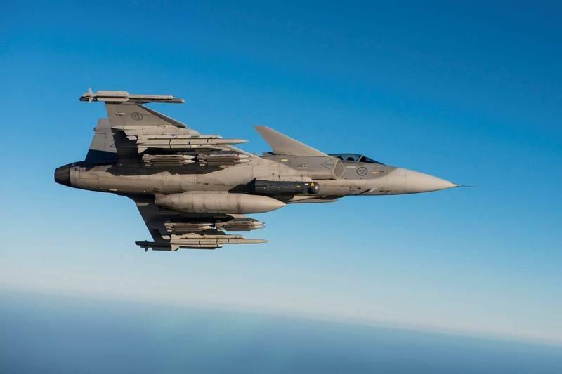 瑞典近日向克羅埃西亞當局提案,建議克羅埃西亞購買瑞典紳寶集團12架全新獅鷲C/D戰鬥機,圖為獅鷲C/D戰鬥機。(擷取紳寶集團官網)