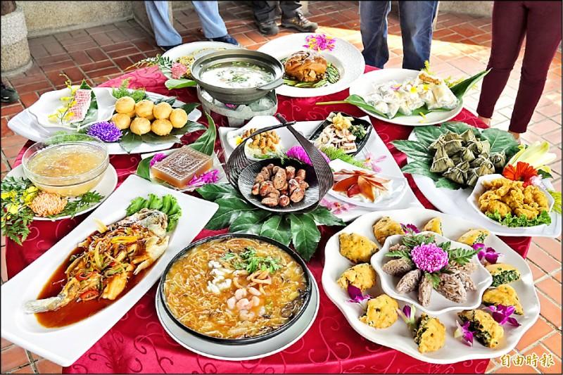 彰化鹿港廟口商圈協會今年推出「鹿港潯味甲子宴」,9月21日上午9點網路報名。(記者劉曉欣攝)