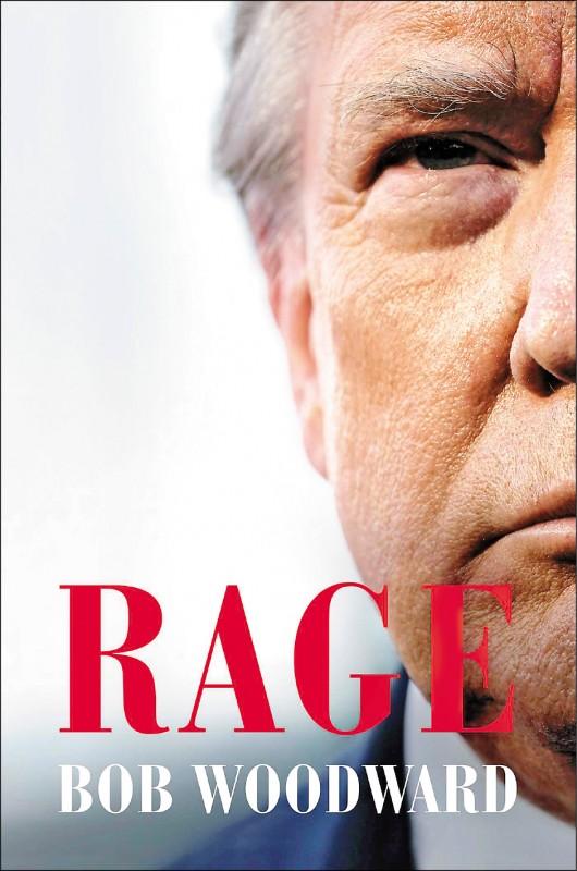 圖為下週即將上市的新書「憤怒」的封面。書中踢爆美國總統川普早在一月份的簡報會上就得知新冠病毒會致命,但卻刻意淡化其嚴重性。(歐新社)