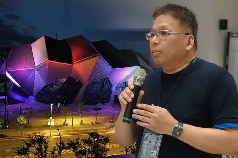 北流執行長彭季康(見圖)被拔官解職。(左為北流北基地主廳館外觀,由台北市新建工程處提供。右為資料照。本報合成)