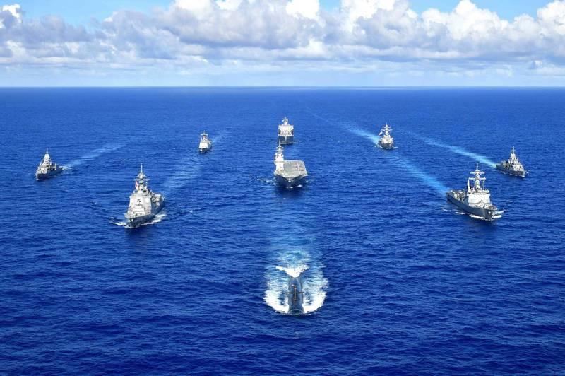 日本、美國、澳洲及南韓今明(9月12、13日)兩天將在關島周邊的海、空域進行聯合軍演,4國共有1500多名官兵參加,有外媒分析此舉是有意警告近期企圖在西太平洋加強活動的中國。(圖擷取自美國太平洋艦隊)