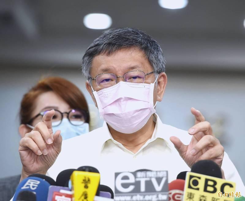 台北市長柯文哲最近安排受訪行程越來越少,本週高達5天未有聯訪行程。(資料照)