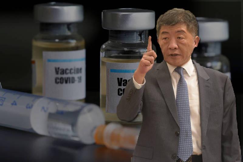陳時中今天參加急重症聯合學術年會,他在會前受訪時表示,指揮中心近期會與COVAX簽約,確保在公平,公正的平台,台灣可以分配及採購到一定數量的疫苗。後為路透資料照。(本報合成)
