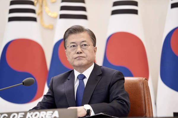 超過87萬民眾連署,要求美國政府起訴、逮捕韓國總統文在寅,該連署已登美國白宮請願網站第一名。(歐新社資料照)