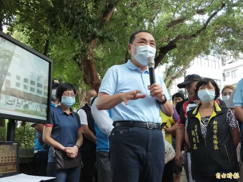 針對國民黨發起反美豬公投連署,新北市長侯友宜表示,公投只是讓民眾的聲音透過程序,展現意志力以及對此議題的關心。(記者賴筱桐攝)