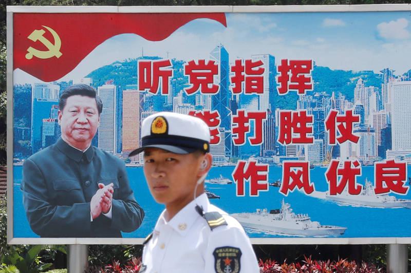 中國國防部發言人吳謙稱美方針對解放軍的軍力報告「肆意歪曲中國共產黨和中國軍隊關係」,並稱美方才是世界和平的威脅者。示意圖。(路透資料照)