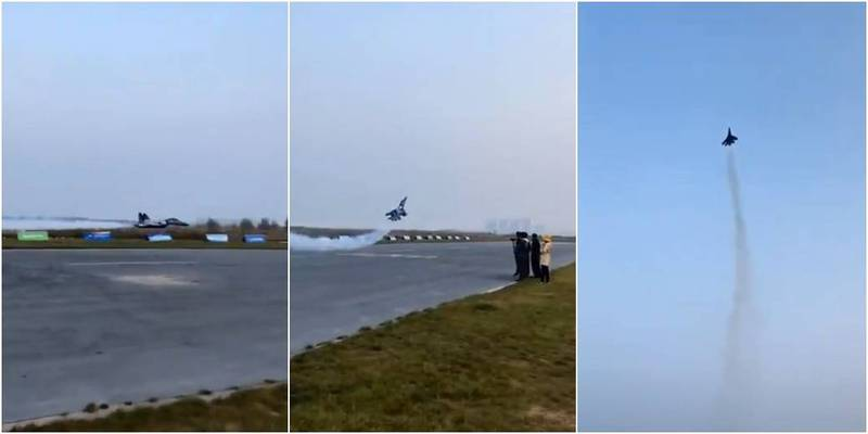 中國官媒大秀共機高難度操作,卻被發現是1架遙控飛機。(圖取自人民日報推特)