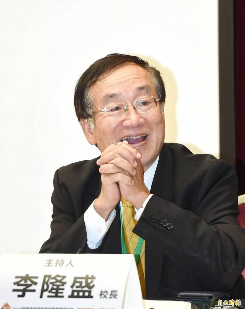 中臺科技大學校長李隆盛(見圖)將出任考選部政務次長。(資料照,記者方賓照攝)