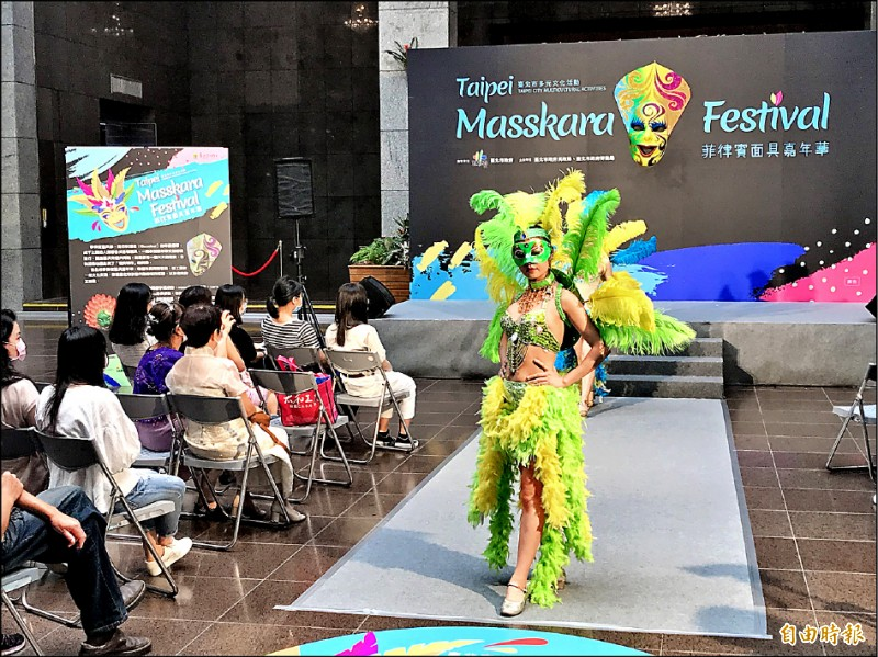 台北市首度舉辦「菲律賓面具嘉年華」,將在週日(20日)登場,隊伍將從中山北路聖多福天主堂前熱鬧踩街,沿著充滿異國特色的菲律賓街區,經過晴光市場,抵達充滿童趣的晴光公園。(記者蔡思培攝)