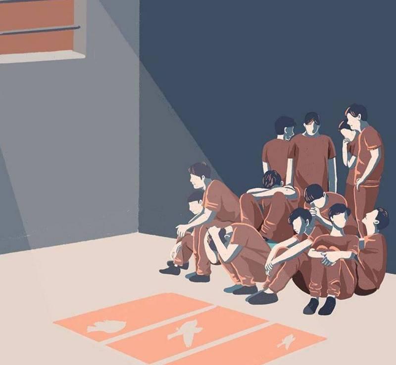 香港民主派立法會議員朱凱迪、前香港眾志成員羅冠聰、黃之鋒、周庭等多名香港民主派人士皆持續呼籲各界高度關注12名被送中港青。圖為香港畫師Ar YU聲援12名被送中港青的作品。(香港畫師Ar YU授權)