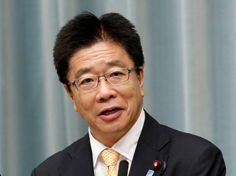 日本厚生勞動大臣加藤勝信。(路透資料照)