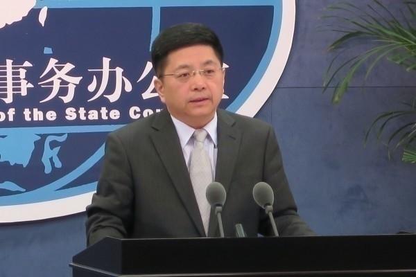 中國國台辦發言人馬曉光今日在國台辦例行記者會嗆聲,台灣問題是中國的內政,不允許外部勢力插手干涉。(資料照,中央社)