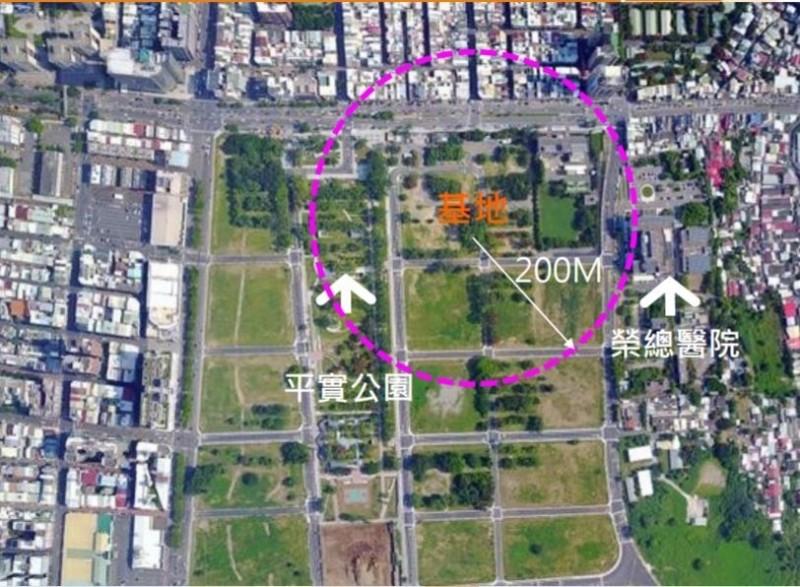 平實營區重劃區都更招商區位示意圖。(記者洪瑞琴翻攝)