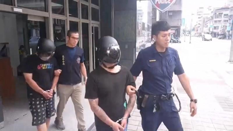 利用外送員運毒的毒販被警方送辦。(記者王冠仁翻攝)