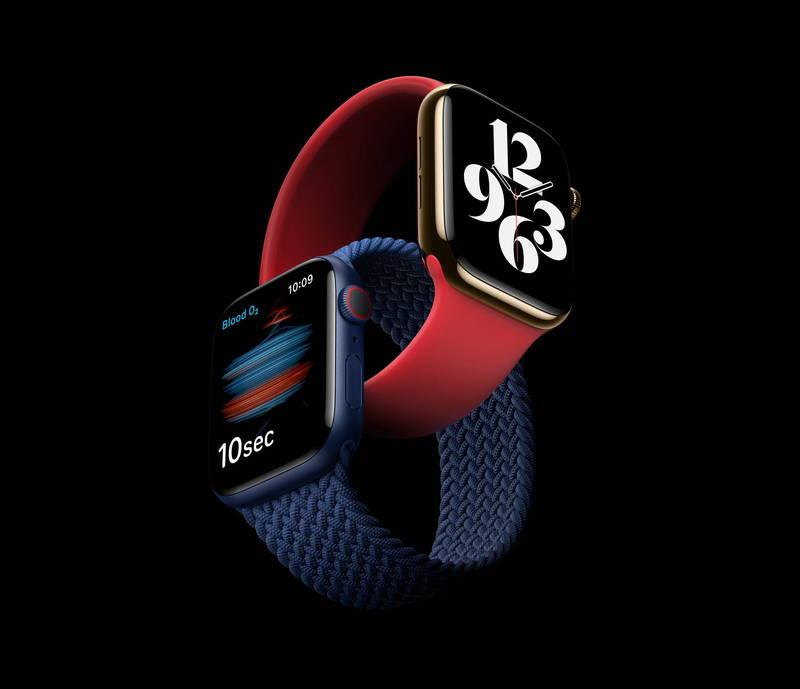 美國蘋果公司今天凌晨發表新商品,其中「Apple Watch S6」加入血氧偵測功能,但這項功能在台灣屬於醫療器材範圍,需申請藥證,未申請前得關閉這項功能。食藥署長吳秀梅提醒消費者,若購買這商品,須注意暫時缺少這功能。(歐新社)