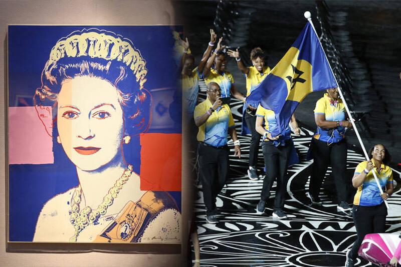 加勒比海島國巴貝多今日表示,該國希望取消英國女王伊麗莎白二世的國家元首地位,讓巴貝多成為一個共和國。左為歐新社,右為美聯社。(本報合成)