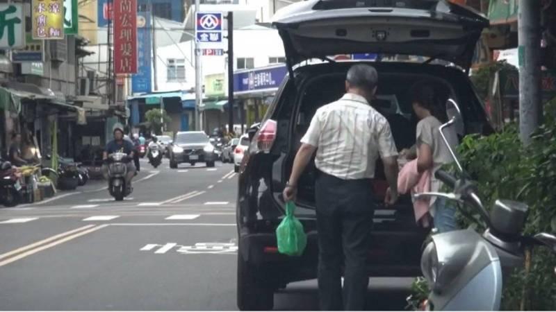 台中市建設局長陳大田使用公務車爆發爭議。(投訴人提供)