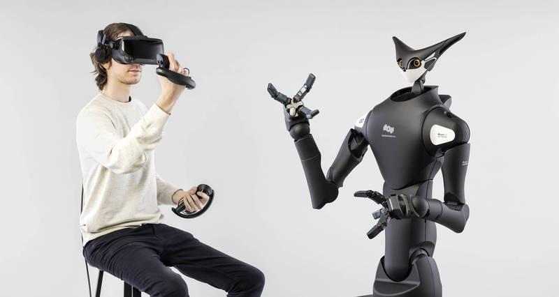 Telexistence和日本全家便利商店合作開發可用VR操控的機器人Model-T。(Telexistence 授權)