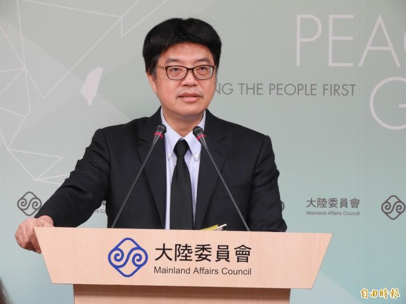 香港保安局長李家超在保安局官網發文呼籲「台灣不要窩藏罪犯」;陸委會副主委兼發言人邱垂正今日表示,不接受這種惡意的指控。(記者陳鈺馥攝)