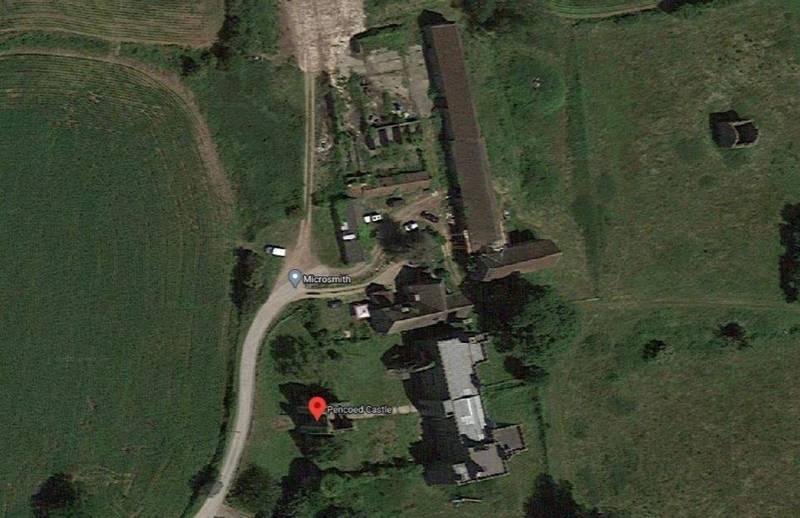 英國南威爾斯一棟古堡近日法拍,只賣得約4100萬元。(圖片截取自google map)