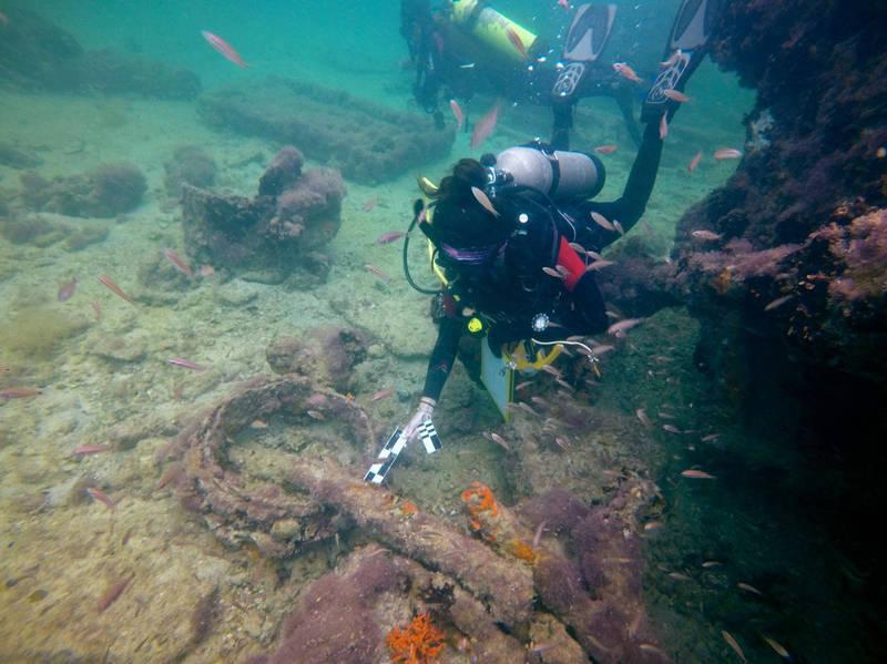 墨西哥考古學家在猶加敦半島外海發唁在1861年沉沒的「聯合號」蒸汽船,而也是首度發現的馬雅奴隸船。(美聯社)