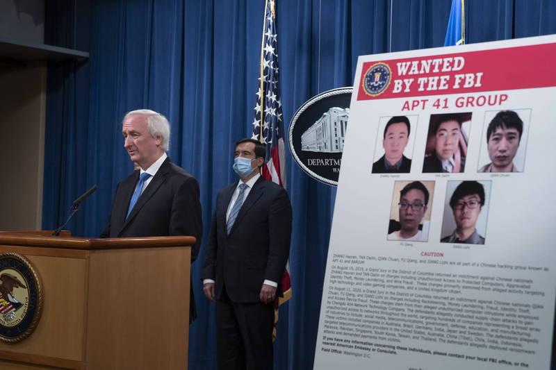 美國司法部16日起訴5名中國駭客。(歐新社)