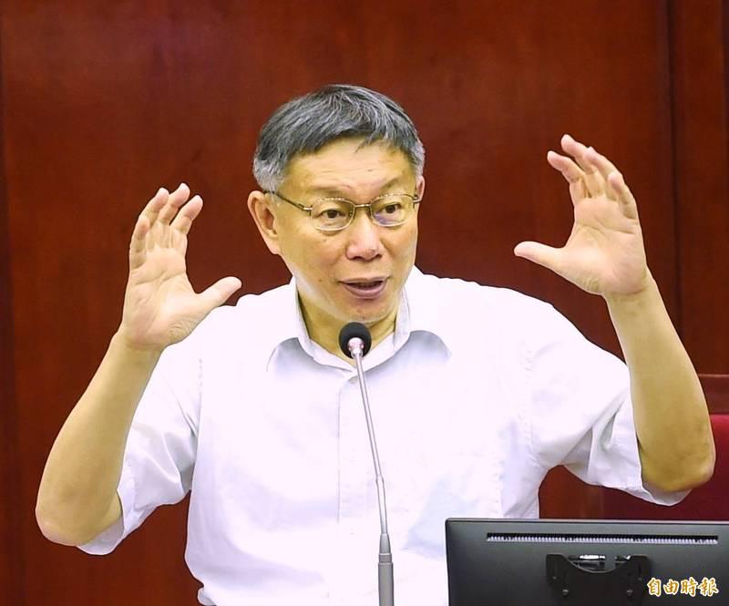 民眾黨主席、台北市長柯文哲今日透露,他對於2020年總統大選所抱持的態度不僅是有過念頭,而是直接準備參選。(記者方賓照攝)