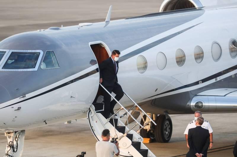 美國國務院次卿柯拉克(Keith Krach)今率團抵達台灣訪問。(中央社)