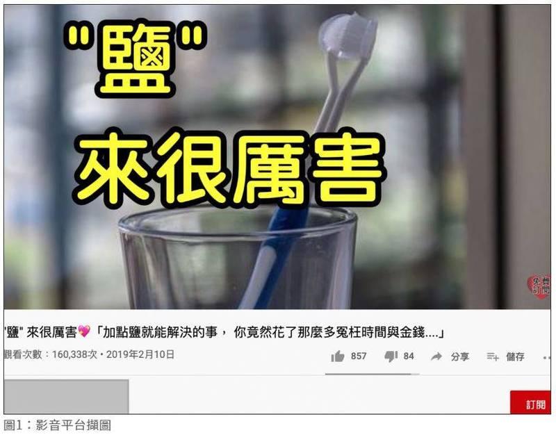 查核報告指出,「鹽水漱口」並不能治療牙周病。(圖擷取自查核中心網頁)
