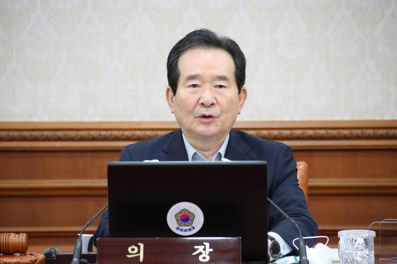 南韓國務總理丁世均16日致函日本新任首相菅義偉表達祝賀之意,信中強調願加強日韓合作意願。(歐新社)