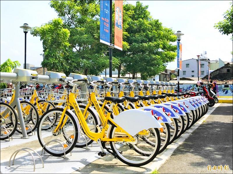 Pbike2.0 進駐潮州,全新車體更好騎,屏東市也同步更新。 (記者羅欣貞攝)