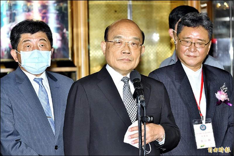 立法院今開議,行政院長蘇貞昌將對開放美豬美牛進行專案報告。( 記者塗建榮攝)