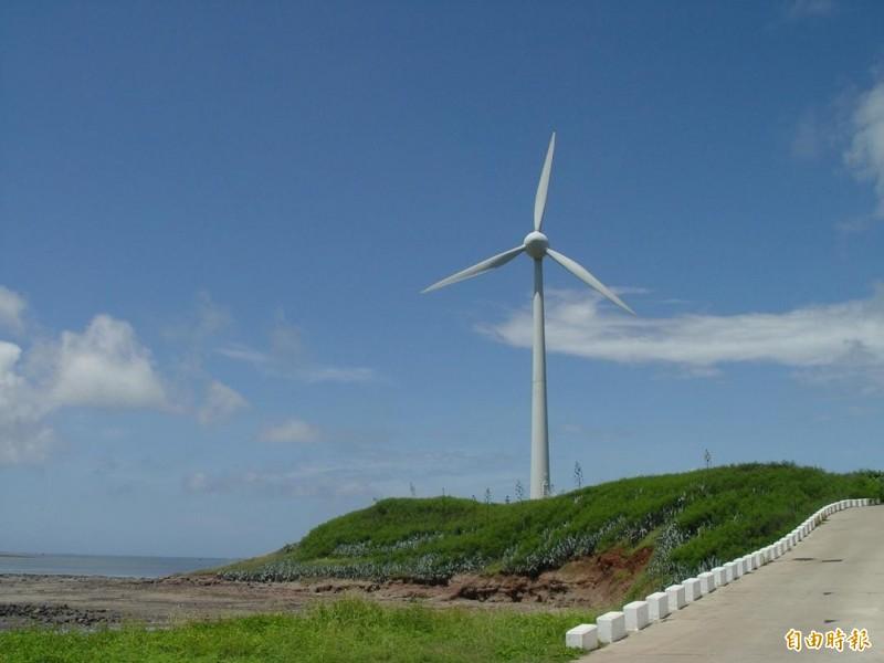 澎湖風場優勢居全國之冠,適合發展風力發電機組。(記者劉禹慶攝)