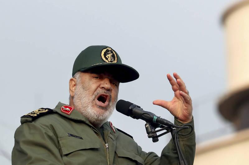 伊朗革命衛隊總司令薩拉米揚言要對美國報復。(美聯社)
