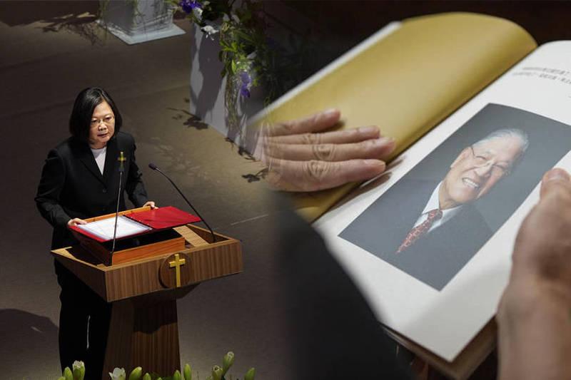 蔡英文(左)今日也在臉書表示,在感念李前總統一生奉獻的同時,更不能忘記,台灣的前途現在正掌握在你我的手中,我們要承接李登輝的成就,確立台灣主體性,深化、發揚台灣的民主自由。左美聯社,右路透。(本報合成)