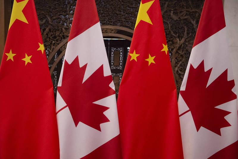 加拿大與中國的關係日益緊張。(法新社)