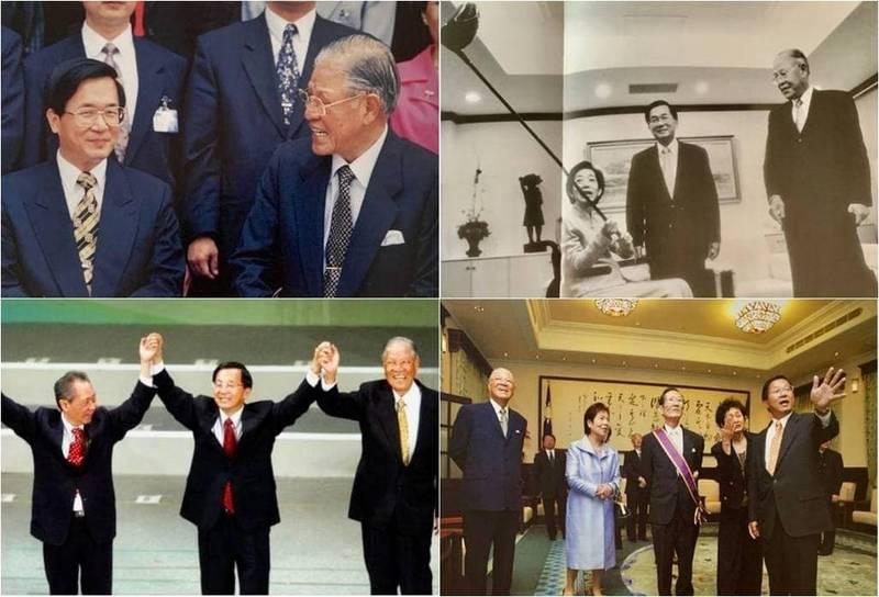 陳水扁在臉書貼出4張與李登輝的合照,追思李登輝。(圖擷自陳水扁新勇哥物語臉書)