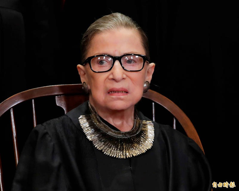 美國自由派大法官金斯堡逝世。(路透)